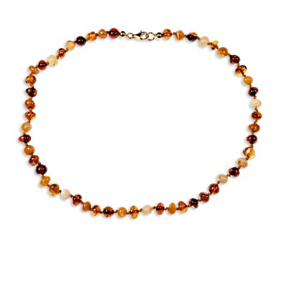 Collier bébé ambre petites perles multicolores